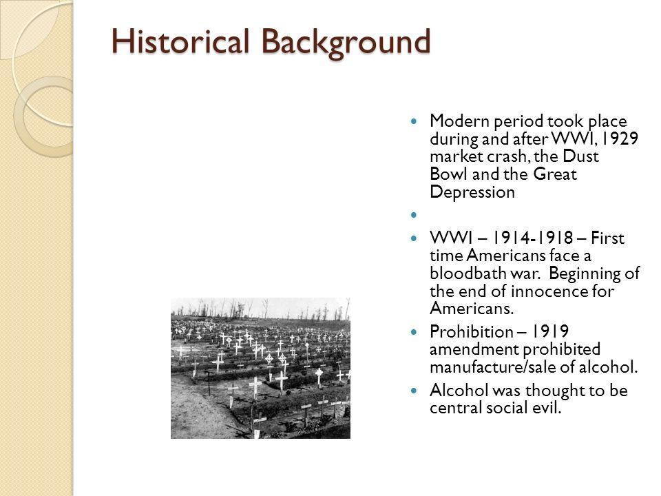Background cont.1929 Stock Market Crash – Economic destruction that spread to a global level.