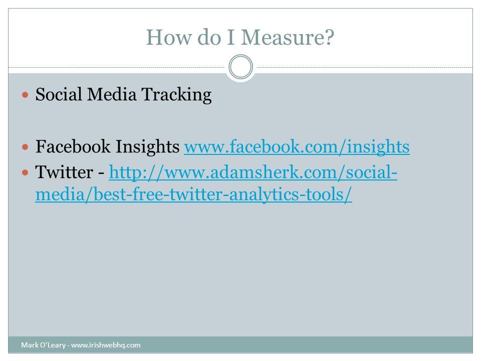 Facebook Insights Mark O Leary - www.irishwebhq.com