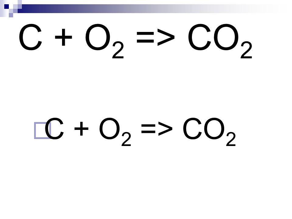 C + O 2 => CO 2