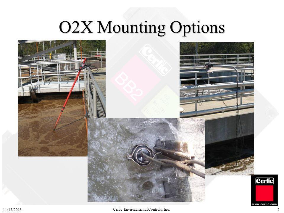 Cerlic Environmental Controls, Inc. 11/15/20137 O2X Mounting Options