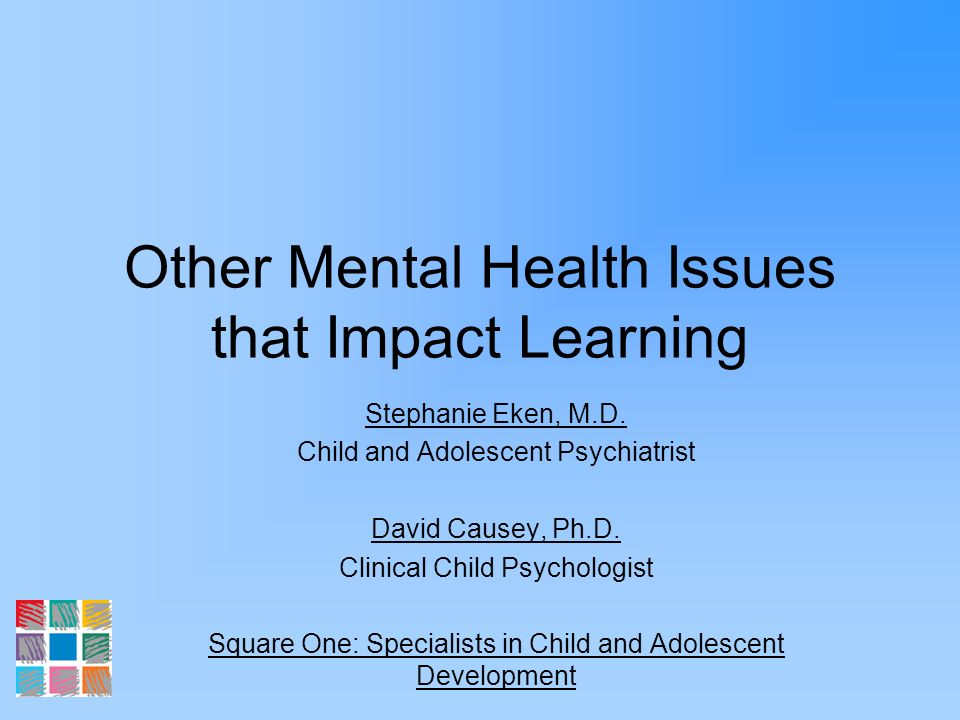 Psychosocial Risk Factors for Depression Family problems –Conflict, maltreatment, parental loss/separation, parental mental illness Comorbid psychiatric disorders –ADHD, anxiety d/os, conduct d/o, substance abuse Recent adverse events –School, relationships, loss of social support Personality traits –Anger, dependence, difficulty regulating affect