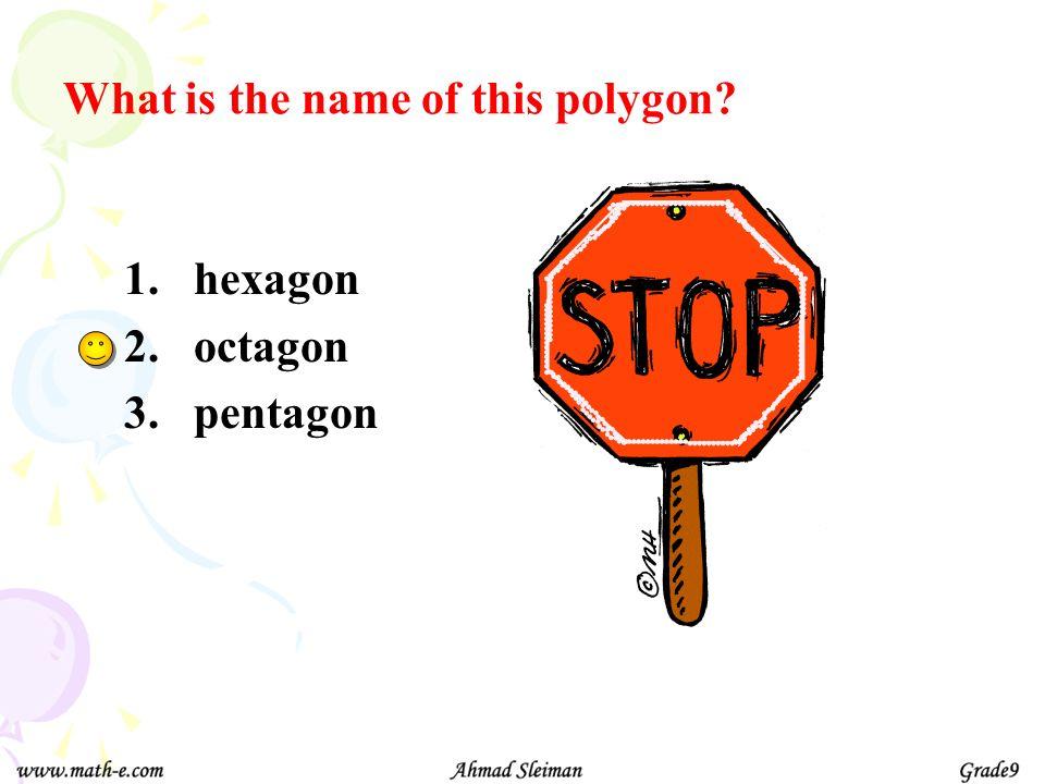 Names of some polygons Triangle Quadrilateral Pentagon Hexagon Heptagon Octagon Nonagon Decagon n-gon 3-sides 4-sides 5-sides 6-sides 7-sides 8-sides