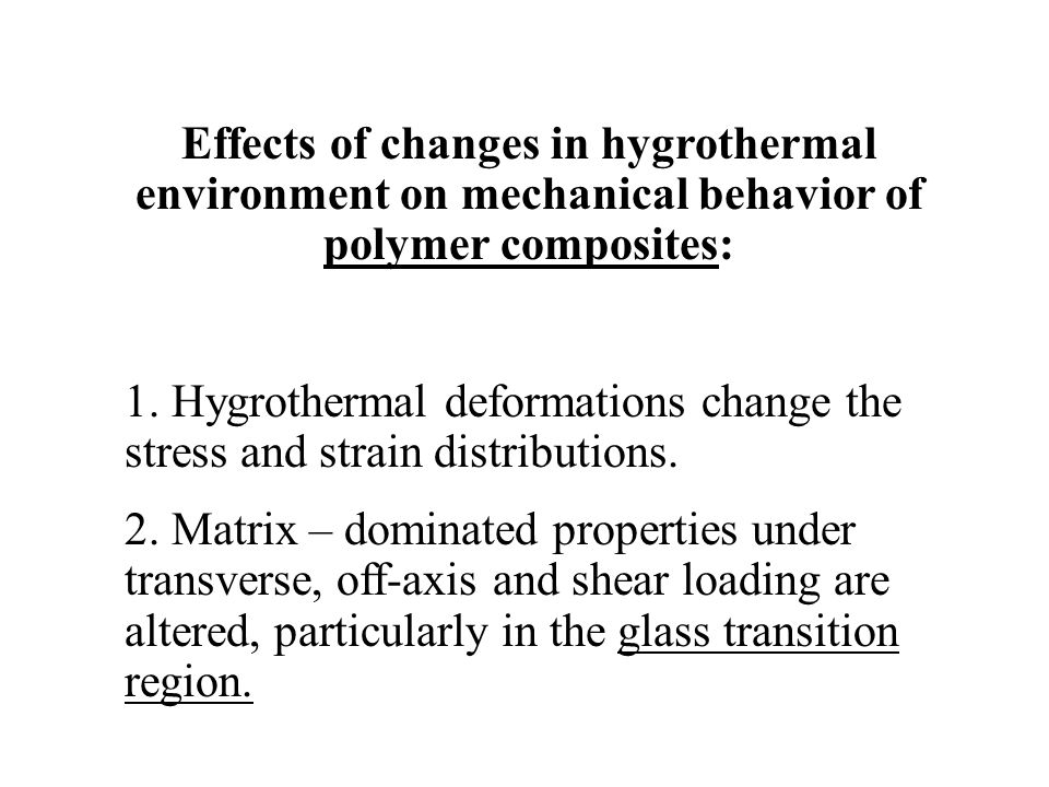 Effects of changes in hygrothermal environment on mechanical behavior of polymer composites: 1. Hygrothermal deformations change the stress and strain