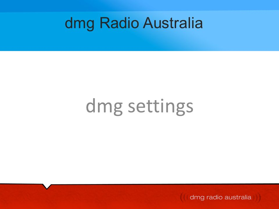 message from our CEO Cathy OConnor welcome to what we believe is Australias most dynamic radio and digital media company - dmg Radio Australia it was not until may 2000 that we acquired our first metro radio station and our growth has continued, spectacularly at times, every year since then the result is 9 radio stations over five Australian states already we are able to boast an executive, sales and creative body of talent which is quite outstanding and from which the next generation of industry leaders is likely to emerge