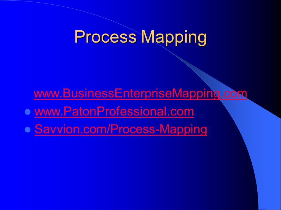 Process Mapping www.BusinessEnterpriseMapping.com www.PatonProfessional.com Savvion.com/Process-Mapping