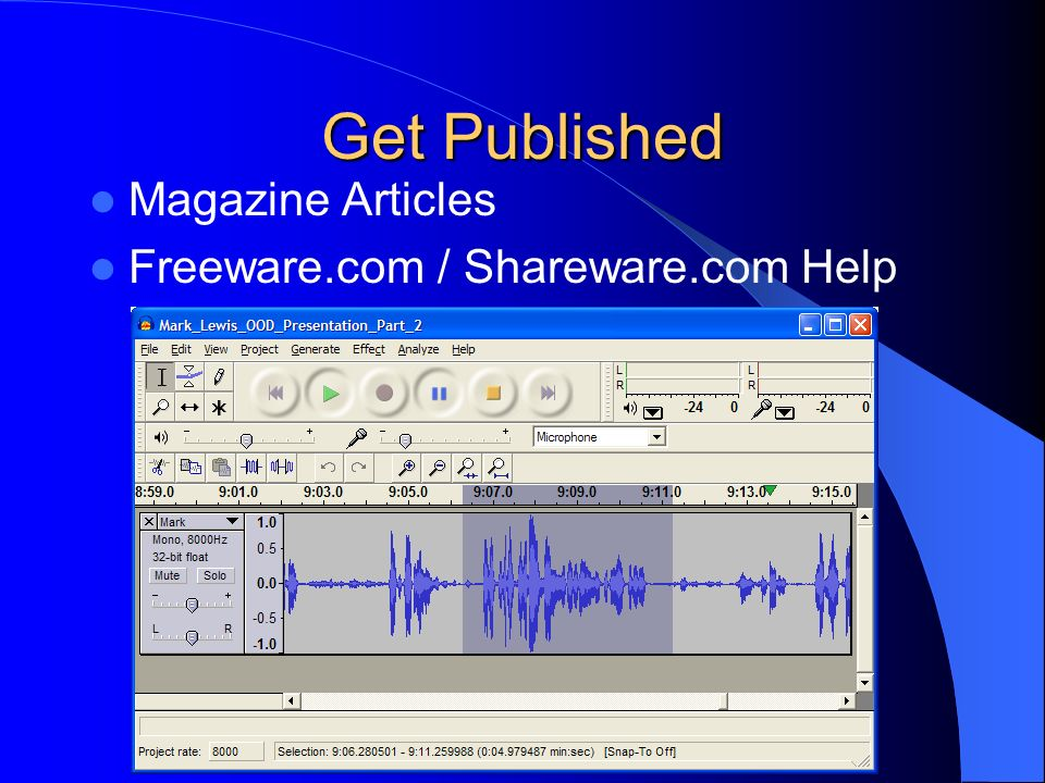 Get Published Magazine Articles Freeware.com / Shareware.com Help