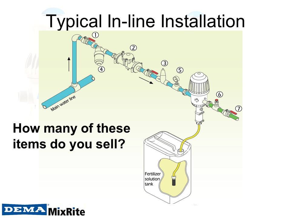 Typical In-line Installation How many of these items do you sell?