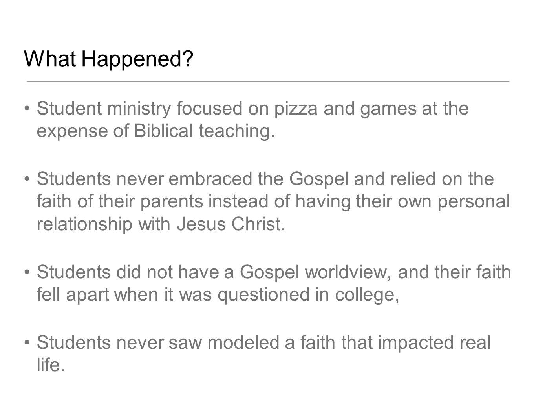 Ministry Philosophy Relationship-Driven Gospel Centered Mission Focused