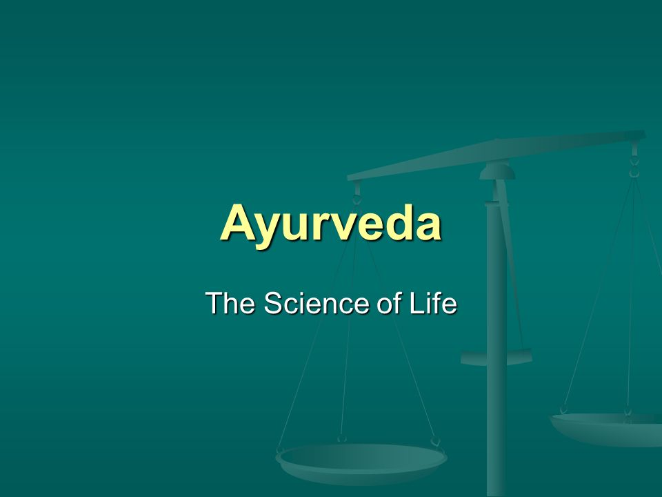 Origins and Definition knowledge for long life; science of life knowledge for long life; science of life from Sanskrit ayus, long life, and veda, science of knowledge from Sanskrit ayus, long life, and veda, science of knowledge Atharvaveda (one of the 4 most ancient books of Hindu culture): 114 hymns for treatement of disease dating from (maybe) 1500 BCE Atharvaveda (one of the 4 most ancient books of Hindu culture): 114 hymns for treatement of disease dating from (maybe) 1500 BCE Charaka Samhita (5th or 6th cent.