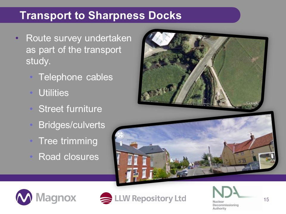 Transport to Sharpness Docks Route survey undertaken as part of the transport study.