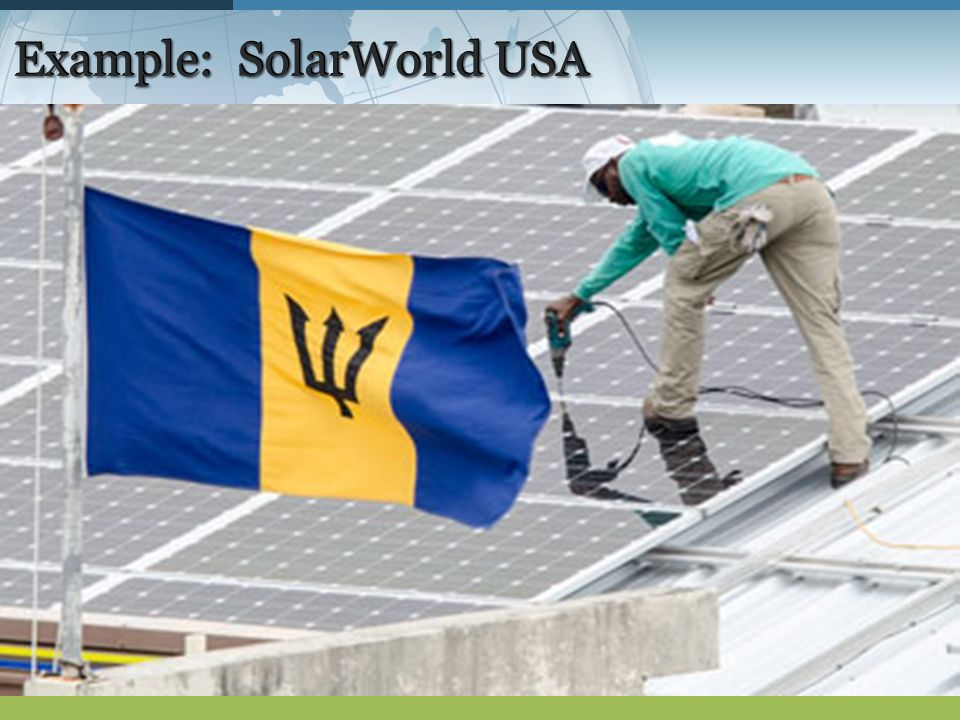 Example: SolarWorld USA