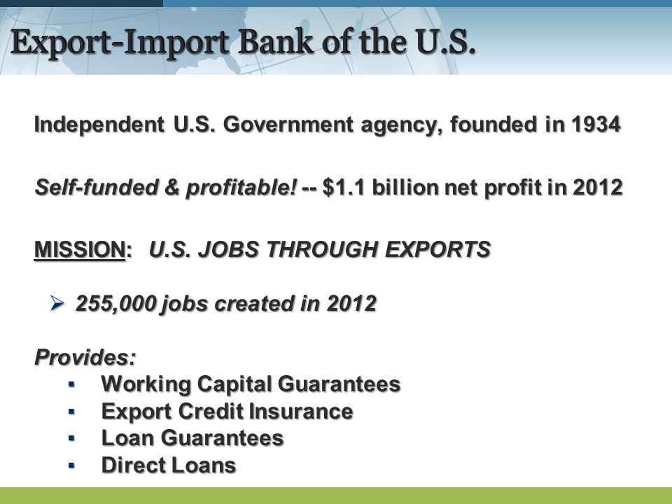 Export-Import Bank of the U.S. Independent U.S.