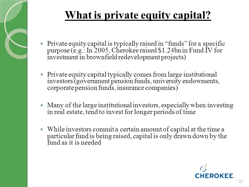 32 What is private equity capital.