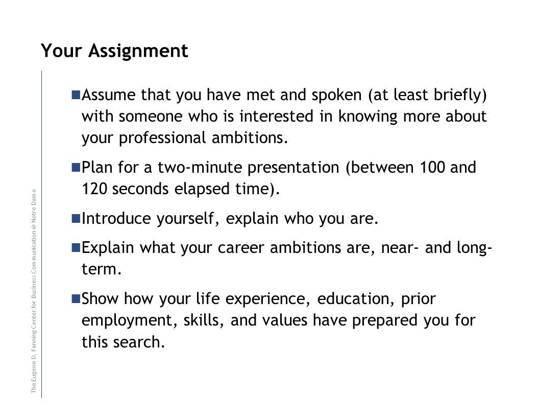 R E S I D U A L T E A C H - I NR E S I D U A L T E A C H - I N Your Assignment Assume that you have met and spoken (at least briefly) with someone who is interested in knowing more about your professional ambitions.