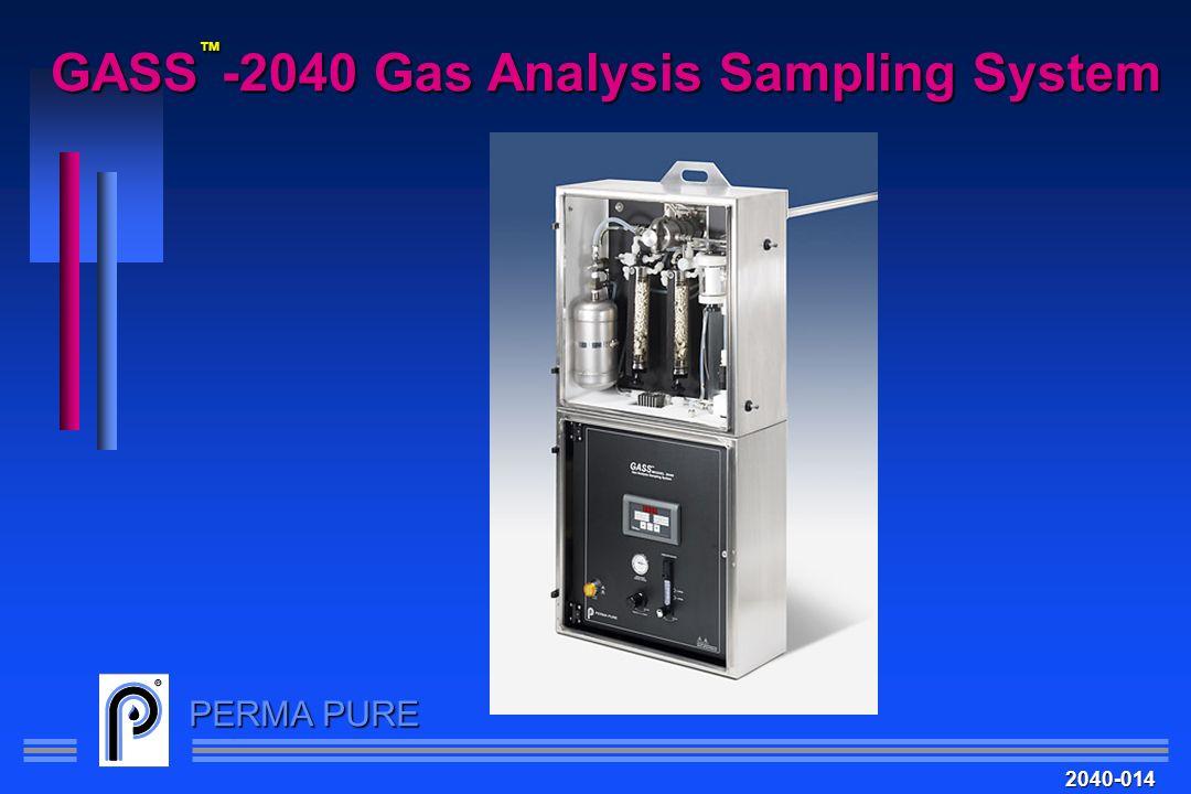 PERMA PURE GASS -2040 Gas Analysis Sampling System 2040-014
