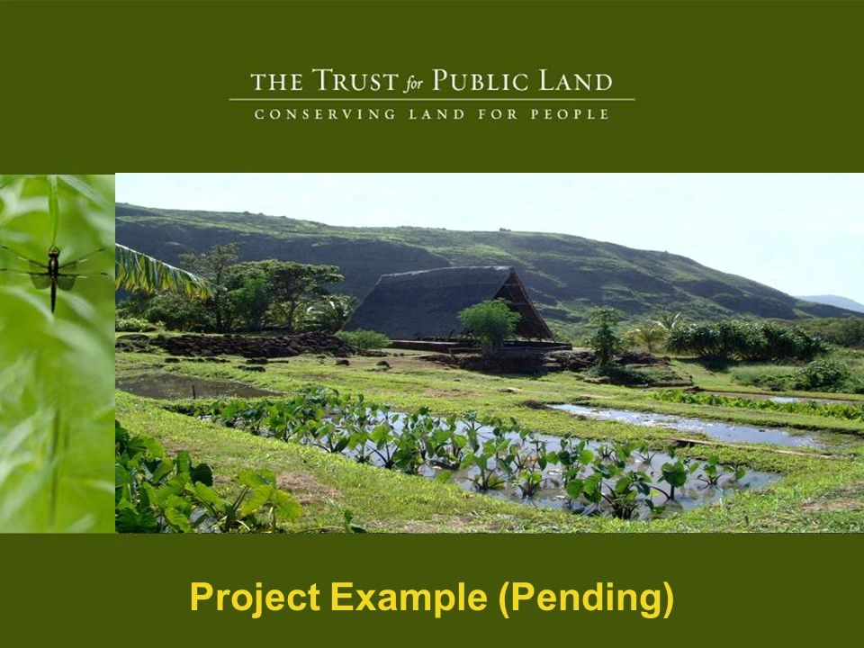 HR A 16 © Copyright 2004 The Trust for Public Land Project Example (Pending)