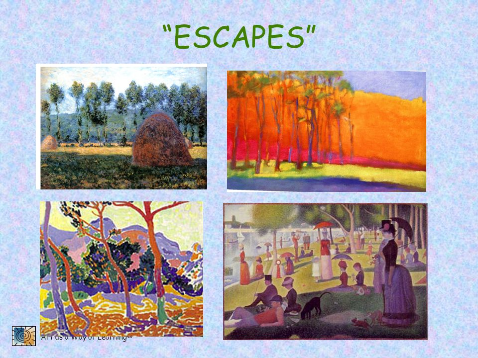 Art as a Way of Learning® ESCAPES