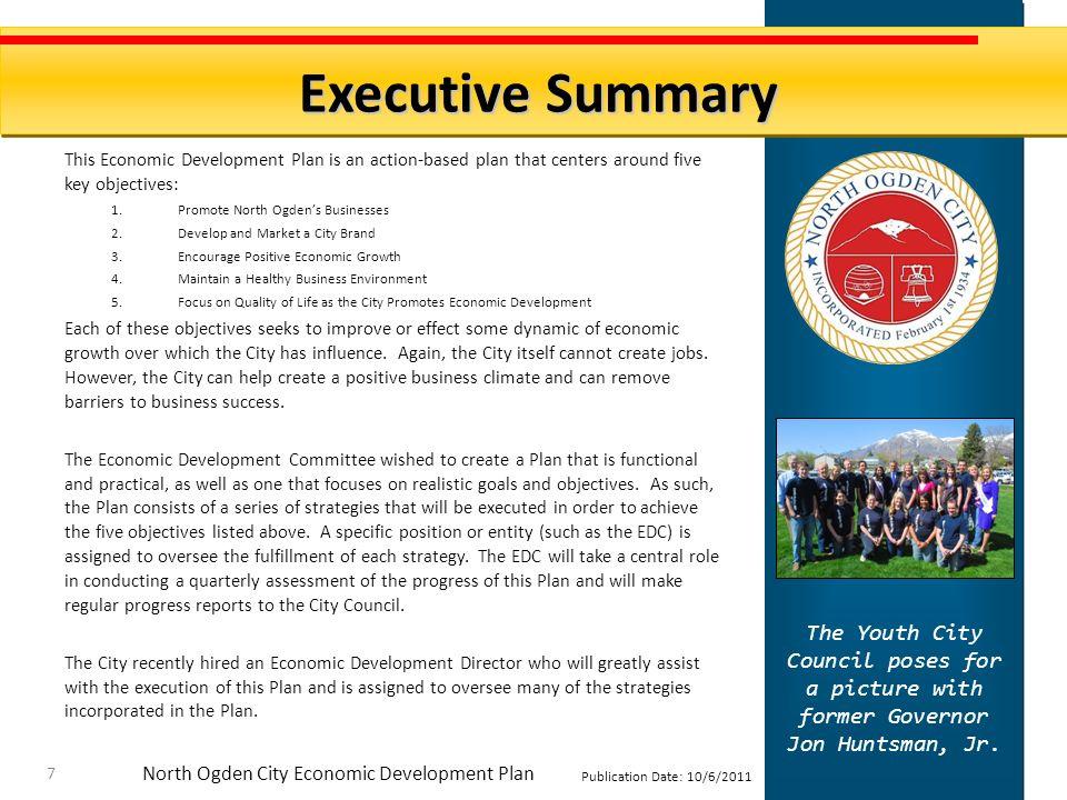 North Ogden City Economic Development Plan Publication Date: 10/6/2011 Welcome to North Ogden.