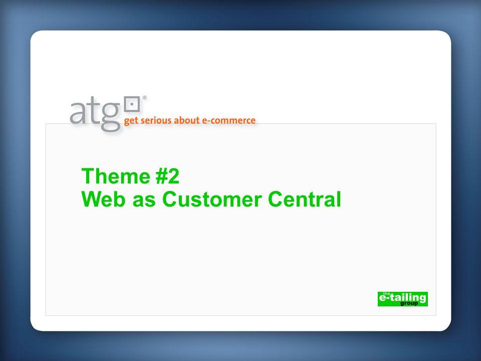 Theme #2 Web as Customer Central
