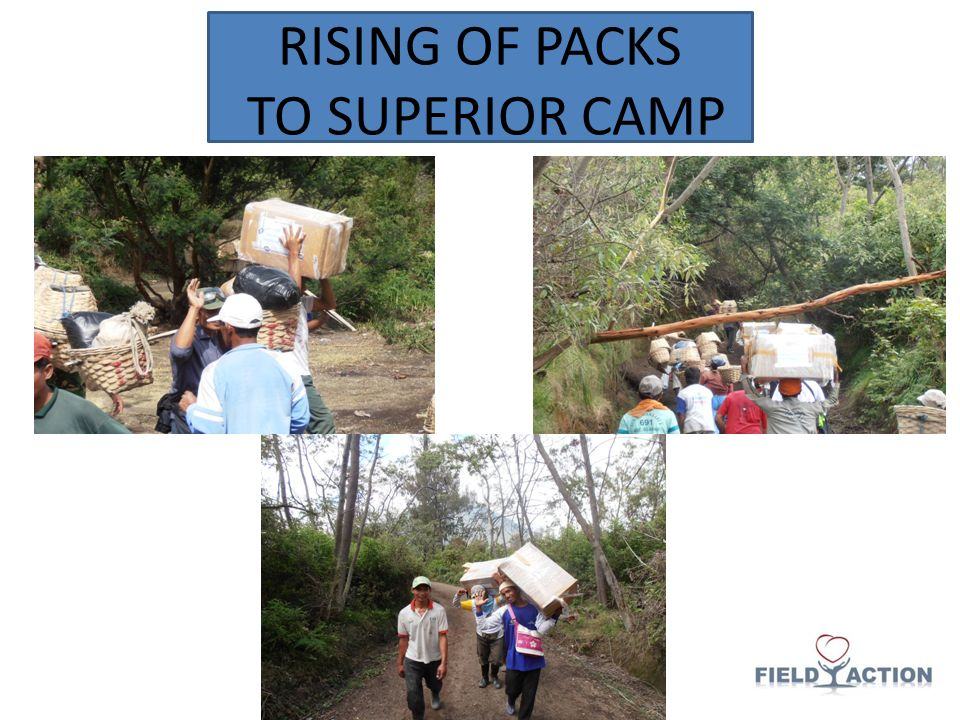 RISING OF PACKS TO SUPERIOR CAMP