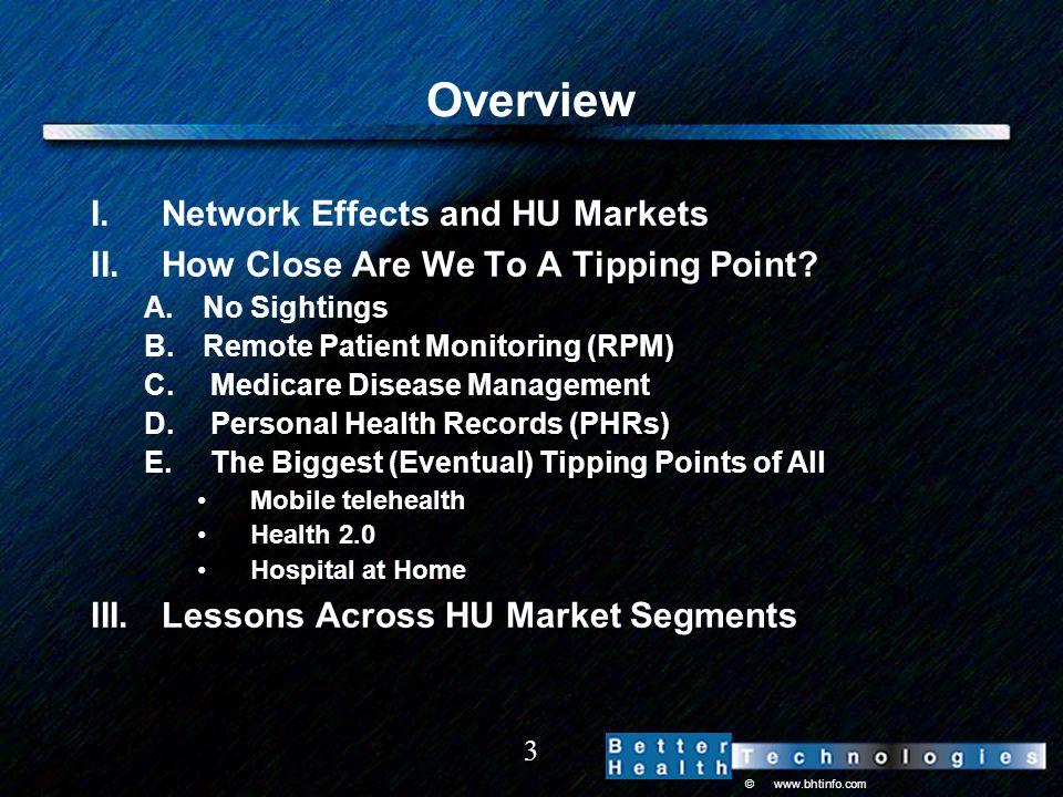 © www.bhtinfo.com 4 I. Network Effects and HU Markets