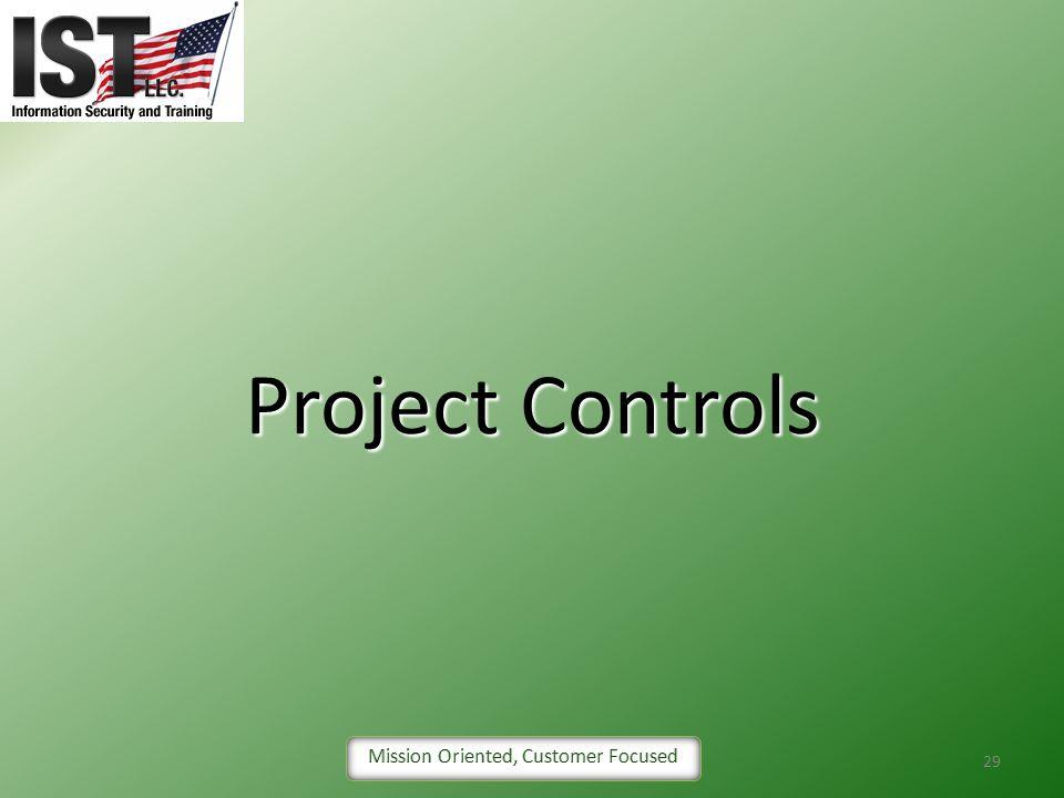 29 Project Controls