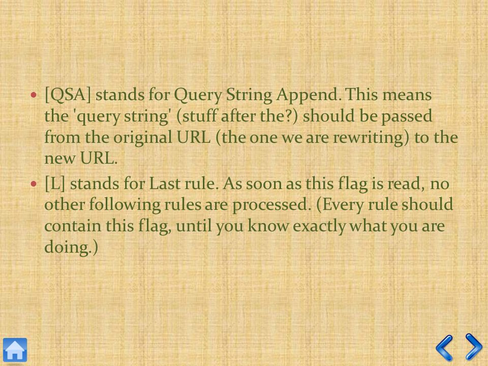 [QSA] stands for Query String Append.