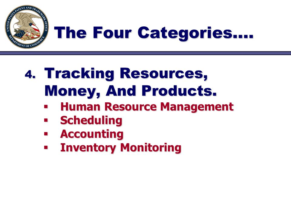 4. Tracking Resources, Money, And Products. Human Resource Management Human Resource Management Scheduling Scheduling Accounting Accounting Inventory