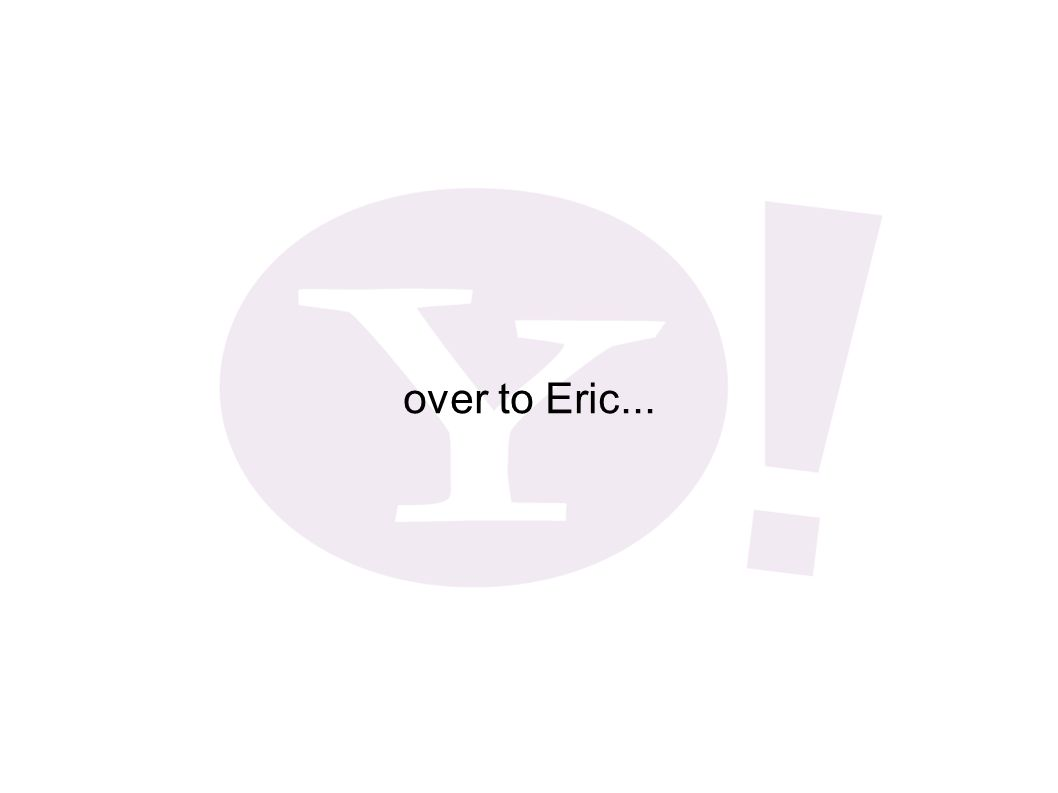 over to Eric...