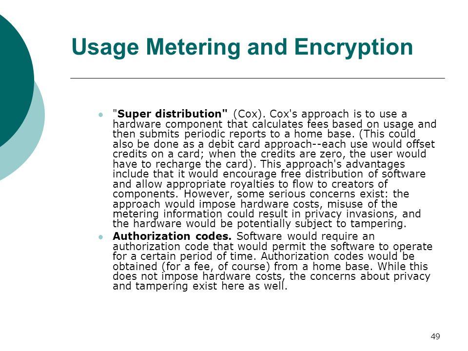 49 Usage Metering and Encryption
