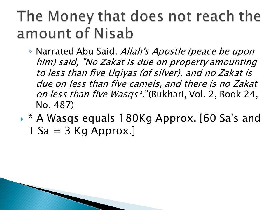 Narrated Abu Said: Allah's Apostle (peace be upon him) said,