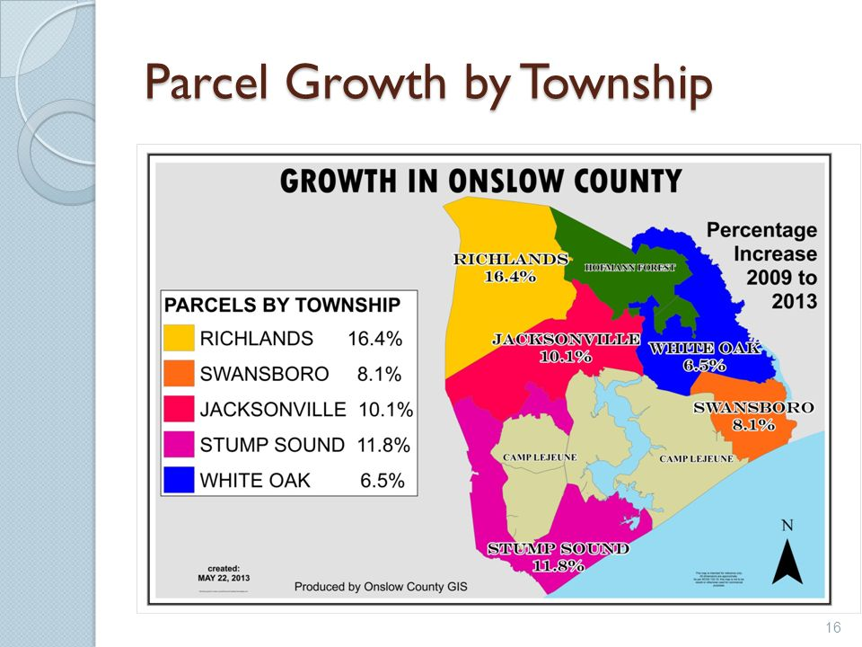 Parcel Growth by Township 16
