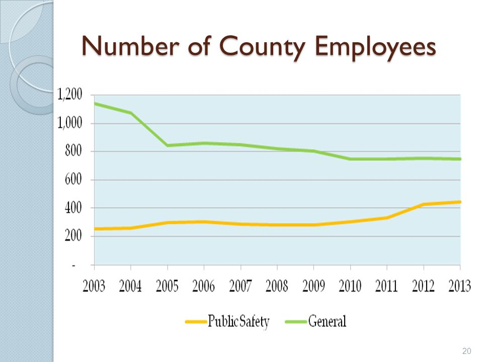 Number of County Employees 20