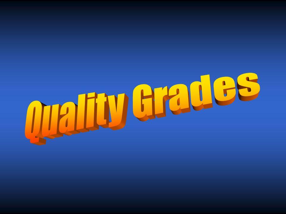 What are the two types of grades? Quality Grade – Qualitative Yield Grade - Quantitative