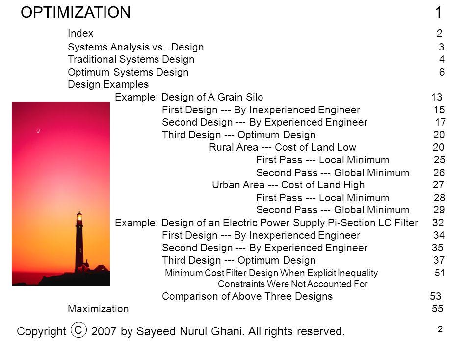 3 Systems Analysis vs..Design Copyright2007 by Sayeed Nurul Ghani.