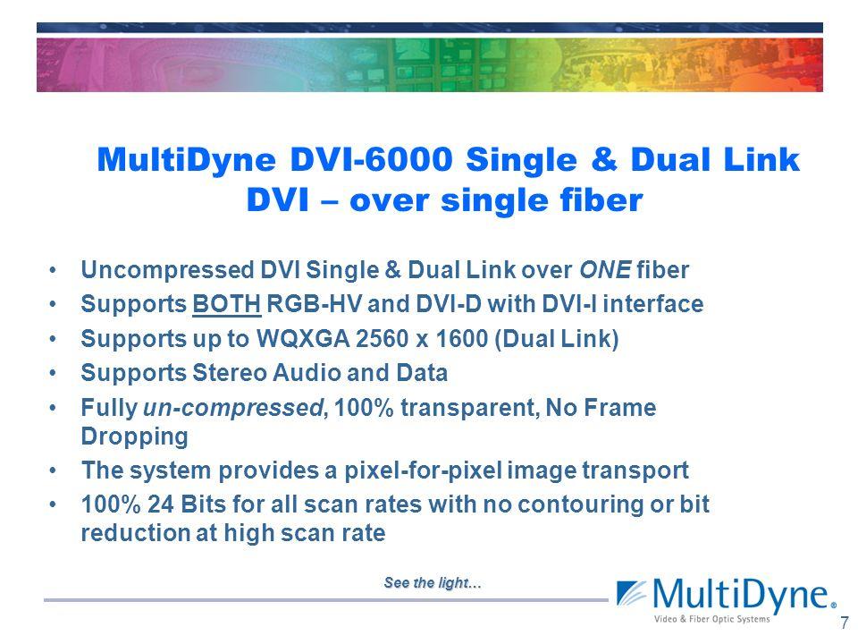 See the light… MultiDyne Joins openGear – offers 3Gb multiplexed card set openGear - platform standard/open architecture; 18 vendors 2 RU frame, 10 or
