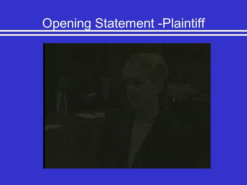 Opening Statement -Plaintiff