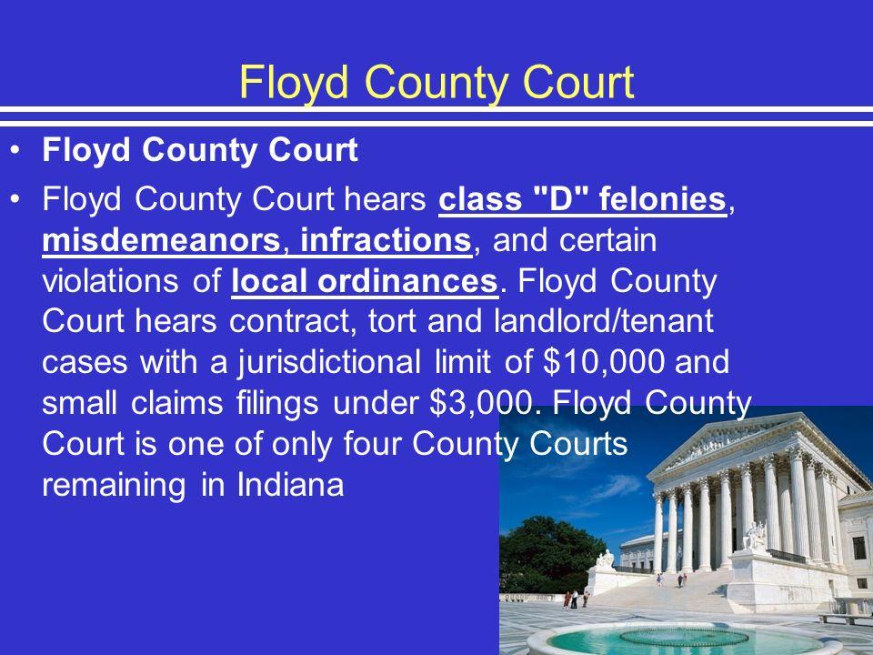 Floyd County Court Floyd County Court hears class
