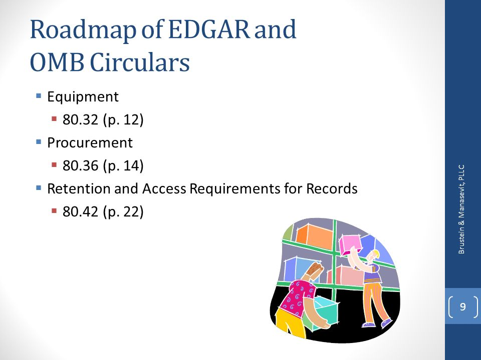 Roadmap of EDGAR and OMB Circulars Equipment 80.32 (p.