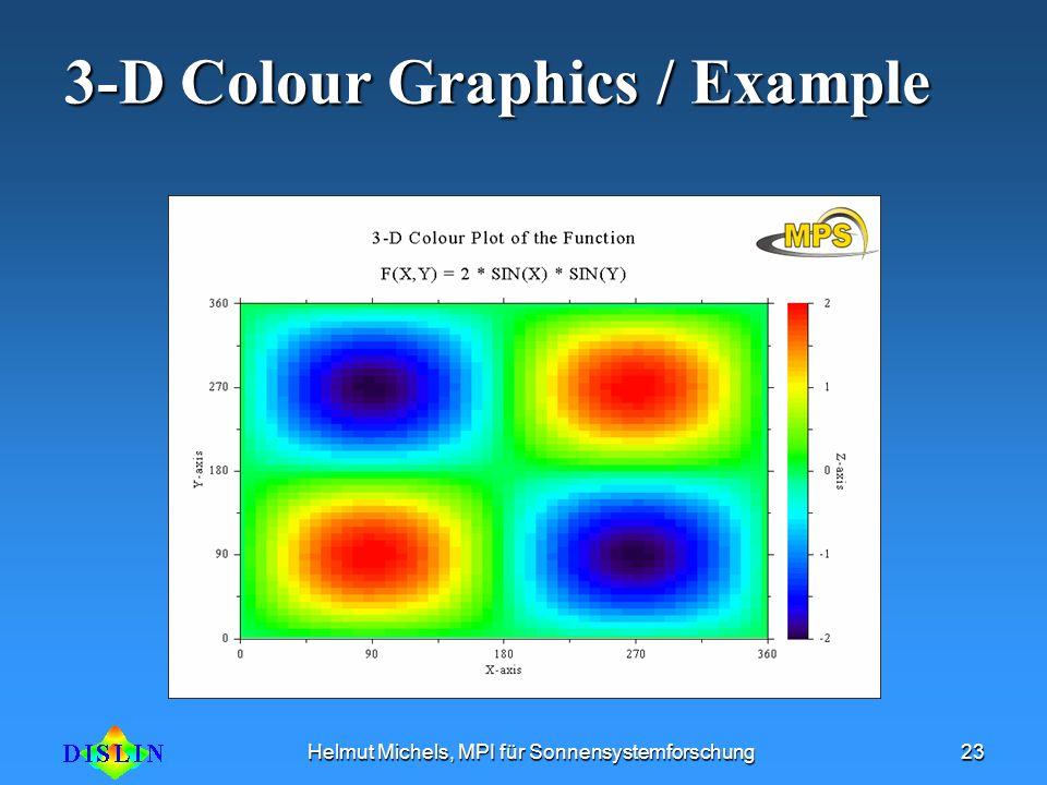 Helmut Michels, MPI für Sonnensystemforschung23 3-D Colour Graphics / Example
