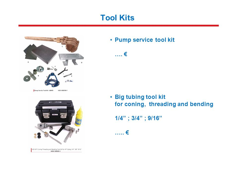 Tool Kits Pump service tool kit ….