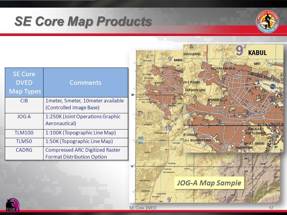 SE Core Map Products JOG-A Map Sample 17SE Core DVED