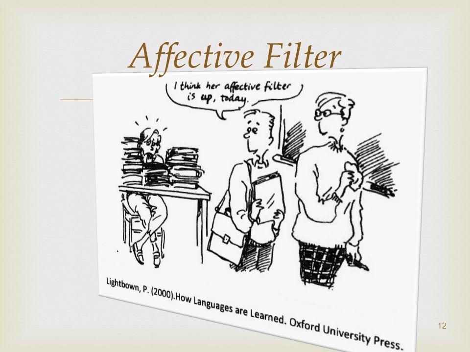 12 Affective Filter
