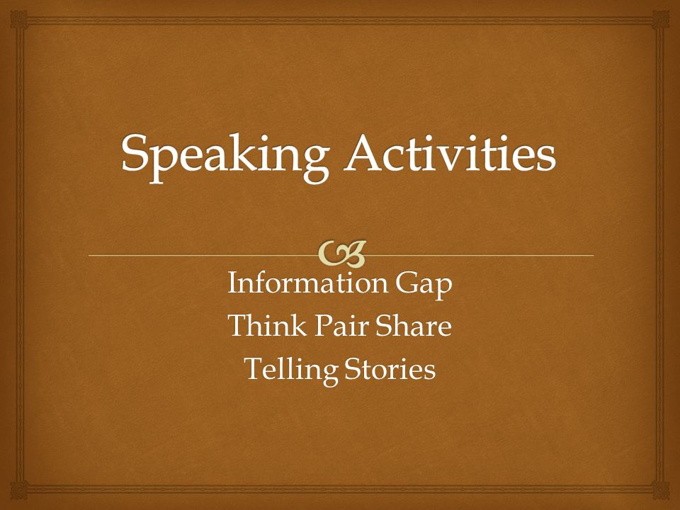 Information Gap Think Pair Share Telling Stories