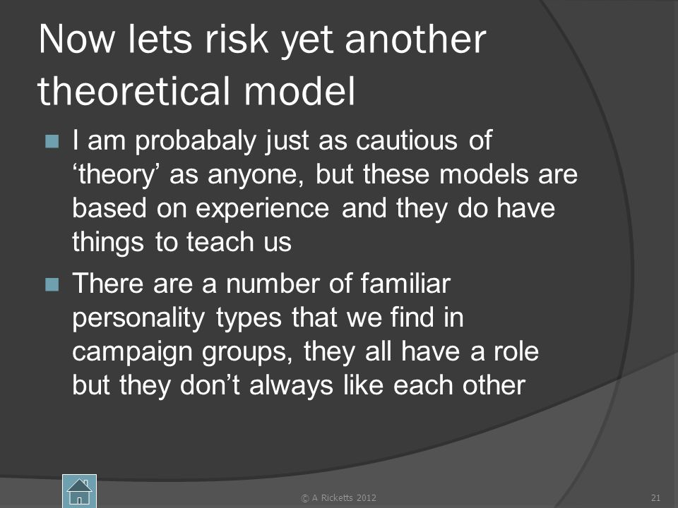Now lets risk yet another theoretical model I am probabaly just as cautious oftheory as anyone, but these models are based on experience and they do h