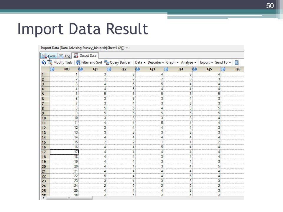 Import Data Result 50
