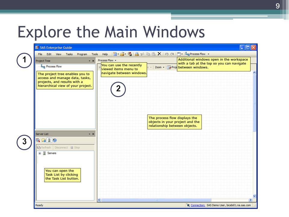 Explore the Main Windows 9 1 1 2 2 3 3