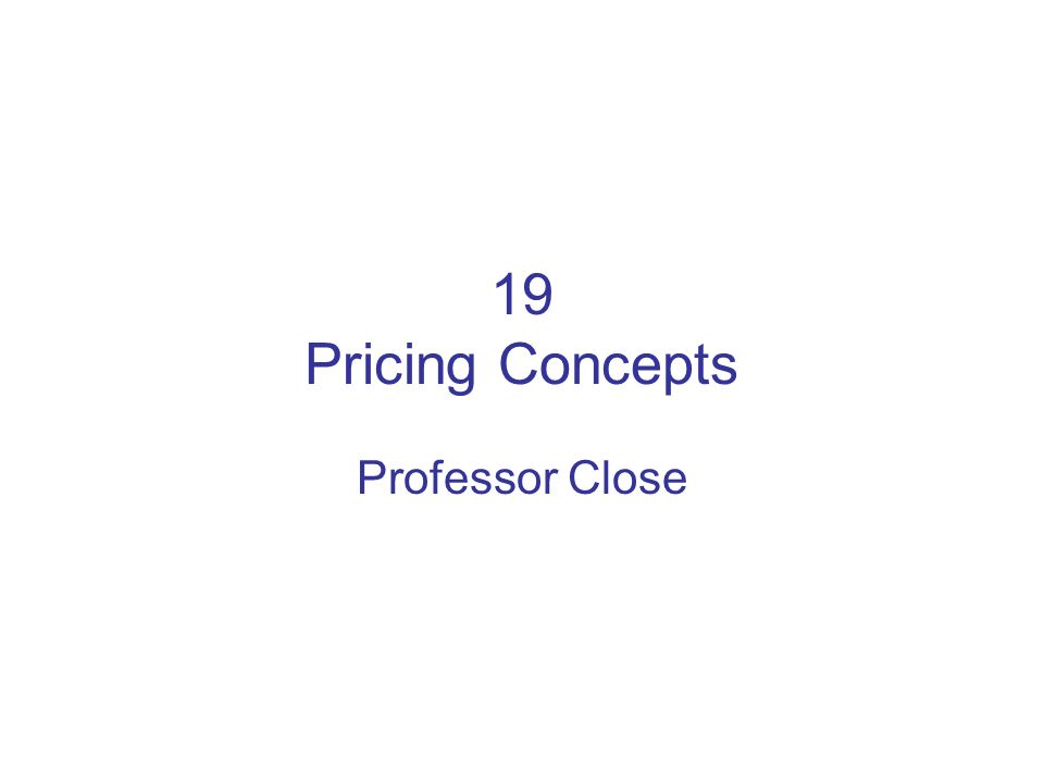 Pricing Objectives (6) Allowances and Discounts (cont…) –Push money/spiffs/p.m.
