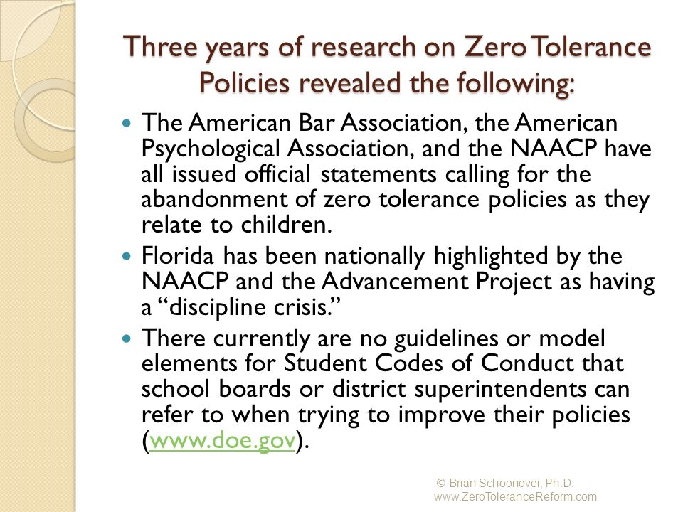 The smaller the school district, the fewer the options for students: In researching the 67 school districts in Florida, 32 of the 33 large districts provided an option of an alternative education setting while only16 of the 34 small districts offered an option of an alternative education setting.