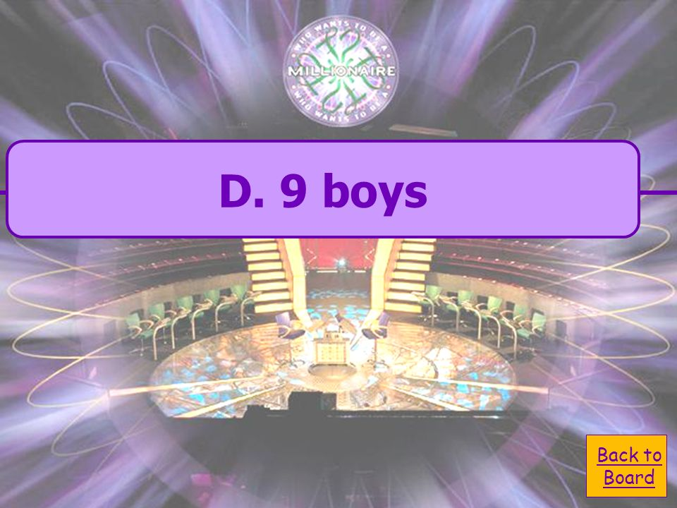 A. 25 boys C. 15 boys B. unable to answer D.
